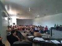 Plenário da Câmara é utilizado para treinamento de mesários das eleições de 2018.