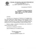 Presidente Francisco Lazarin Vieira, Comunica o seguinte Ato;
